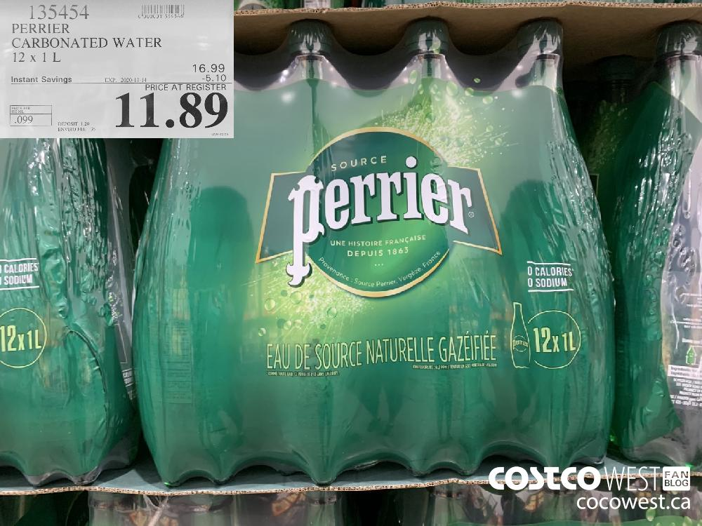 135454 PERRIER CARBONATED WATER 12 x 1L EXP. 2020-10-11 11.89