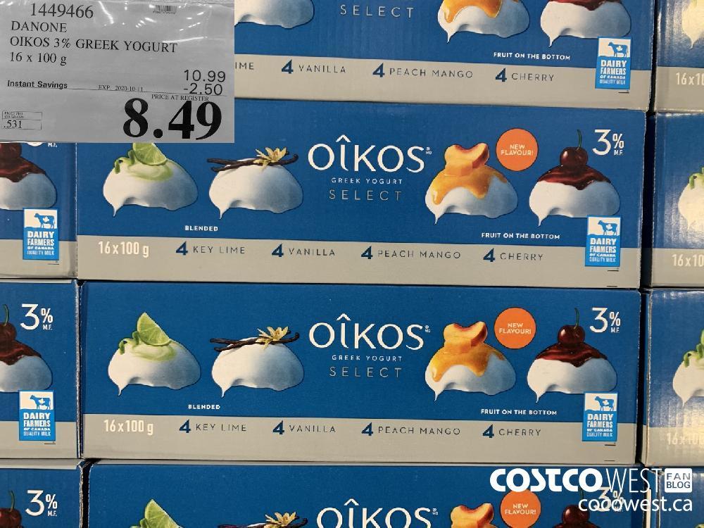 1449466 DANONE OIKOS 3% GREEK YOGURT 16 x 100 g EXP. 2020-10-11 8.49