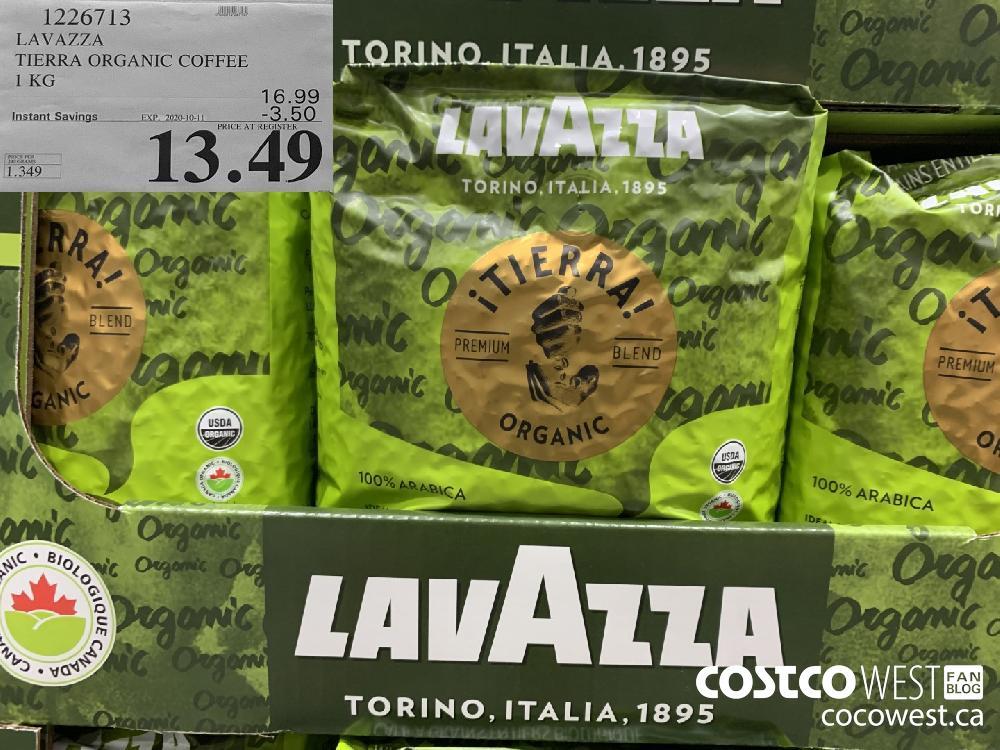 1226713 LAVAZZA TIERRA ORGANIC COFFEE 1KG EXP. 2020-10-11 13.49
