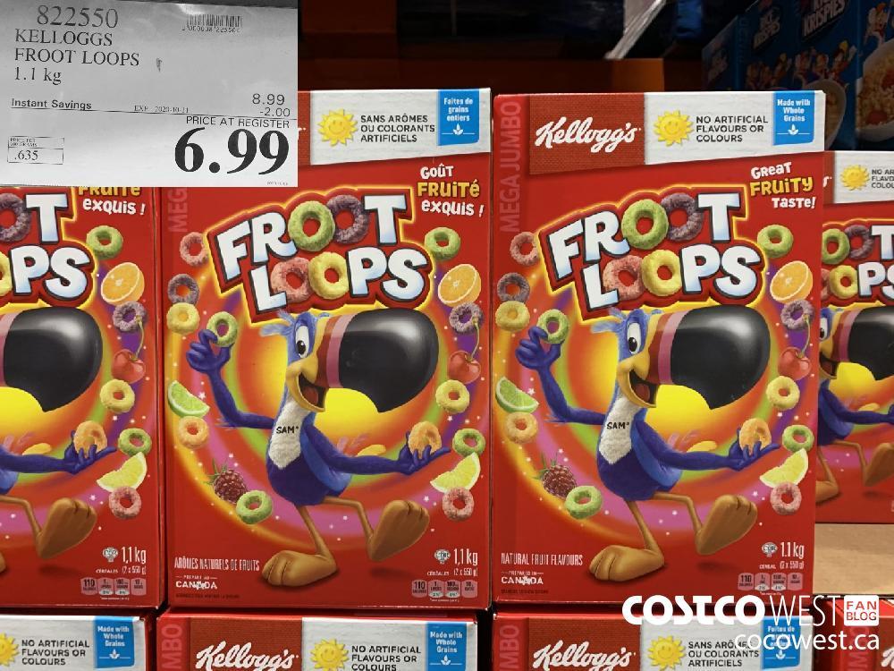 822550 KELLOGGS FROOT LOOPS EXP. 2020-10-11 6.99