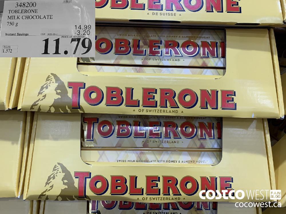 348200 TOBLERONE MILK CHOCOLATE 750 g EXP. 2020-10-11 11.79