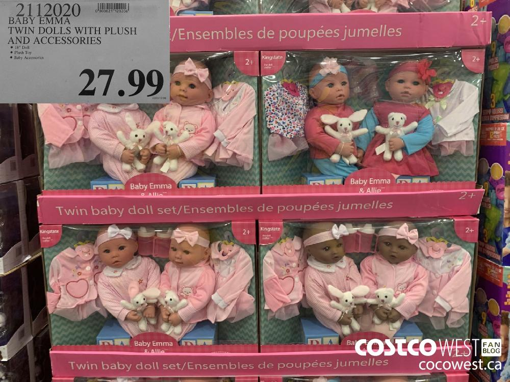 """72112020 BABY EMMA TWIN DOLLS WITH PLUSH AND ACCESSORIES ® 18"""" Doll e 2020/10/08 ® Plush Toy ® Baby Accessories 27.99"""