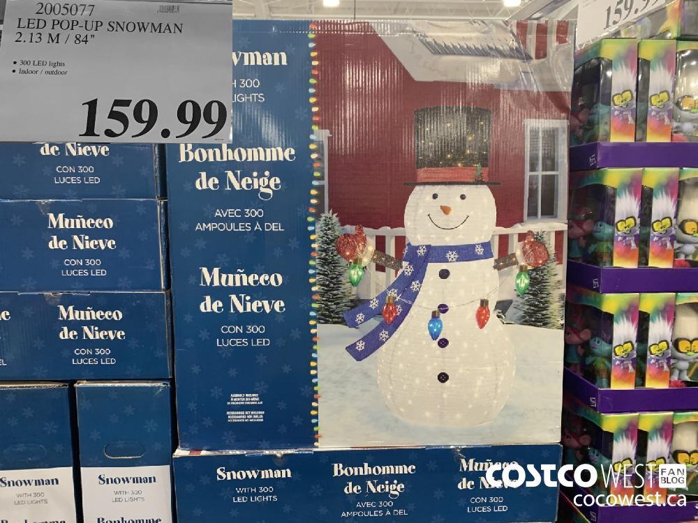 "2005077 LED POP-UP SNOWMAN 2.13 M/ 84"" © 300 LED lights © Indoor / outdoor 159.99"