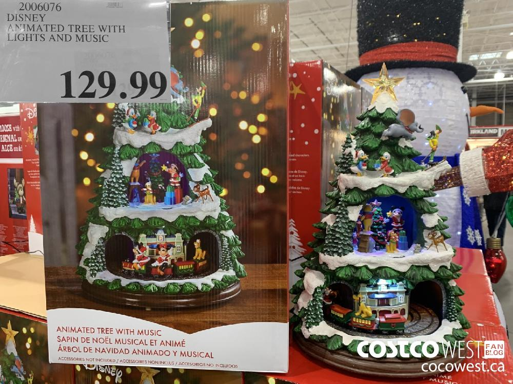 2006076 DISNEY ANIMATED TREE WITH LIGHTS AND MUSIC 129.99