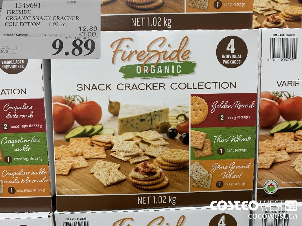 1349691 FIRESIDE ORGANIC SNACK CRACKER COLLECTION 1.02 kg EXP. 2020-10-11 9.89