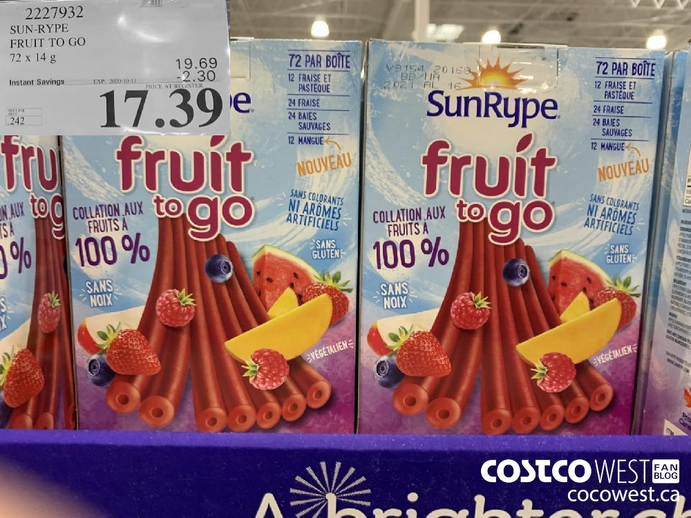 2227932 SUN-RYPE FRUIT TO GO 72 x 14g EXP. 2020-10-11 17.39
