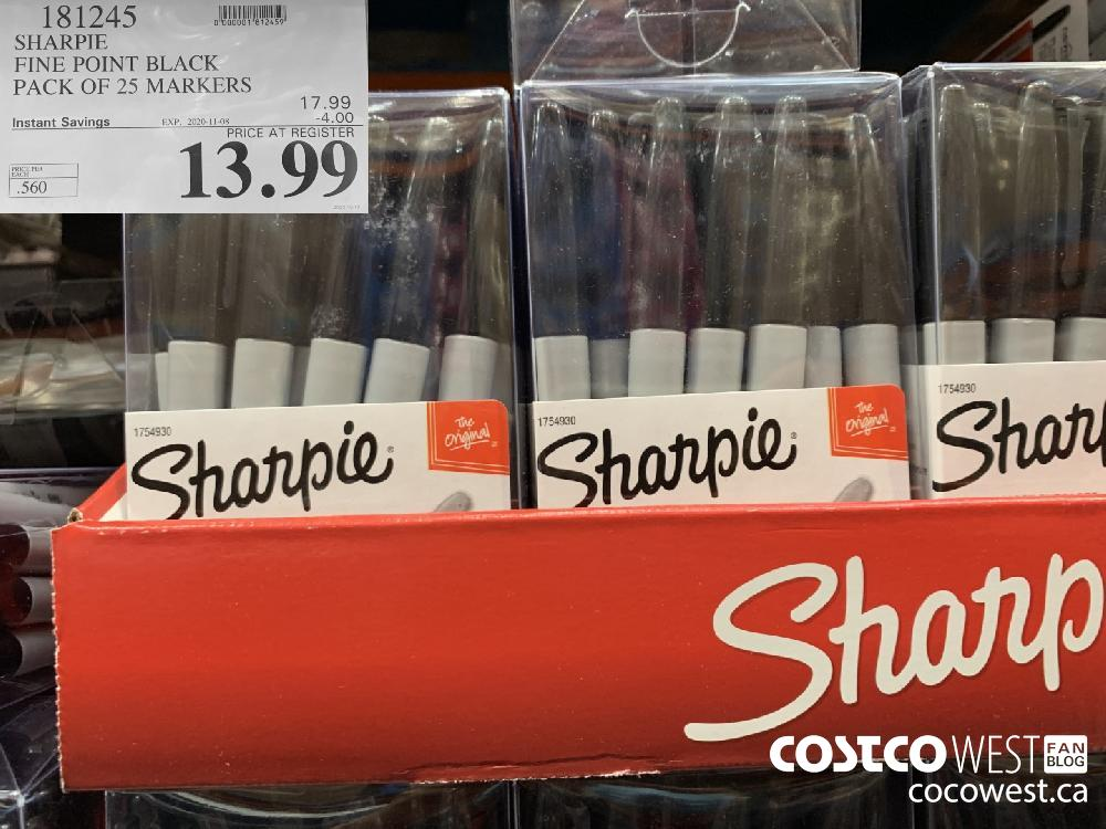 181245 SHARPIE FINE POINT BLACK PACK OF 25 MARKERS | EXP. 2020-11-08 13.99