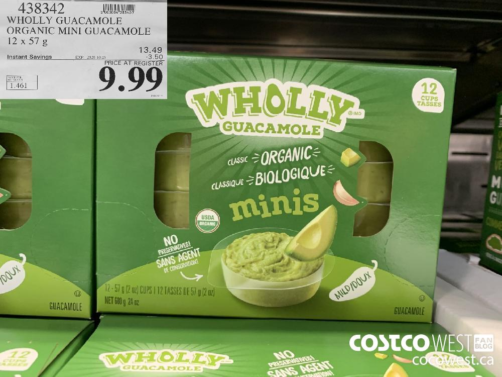 438342 WHOLLY GUACAMOLE ORGANIC MINI GUACAMOLE 12x57g EXP. 2020-10-25 9.99