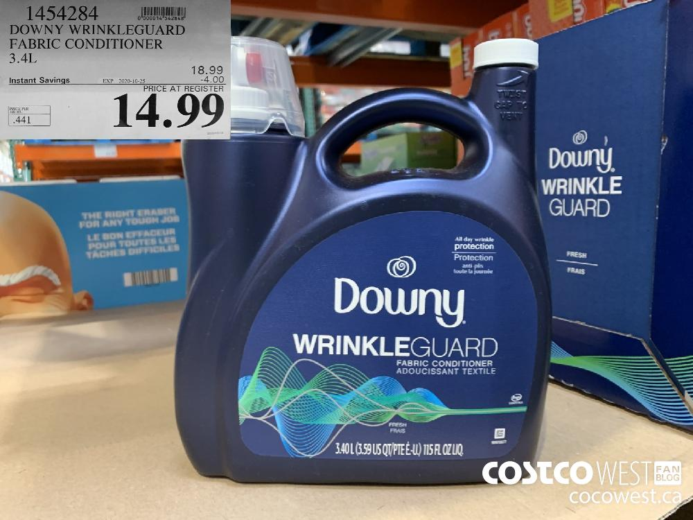 1454284 DOWNY WRINKLEGUARD FABRIC CONDITIONER 3.4L EXP. 2020-10-25 14.99