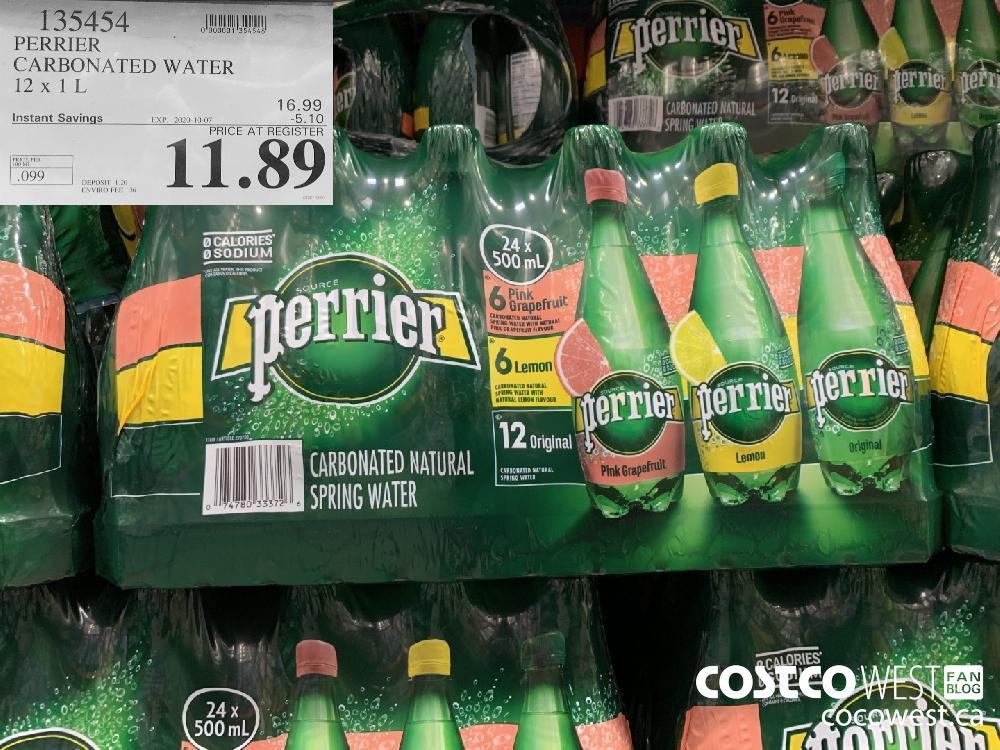 135454 PERRIER CARBONATED WATER 12 x 1 L EXP. 2020-10-07 11.89