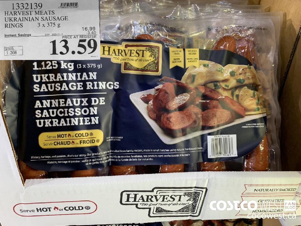 1332439 HARVEST MEATS UKRAINIAN SAUSAGE RINGS 3x375 g EXP. 2020-10-15 13.59