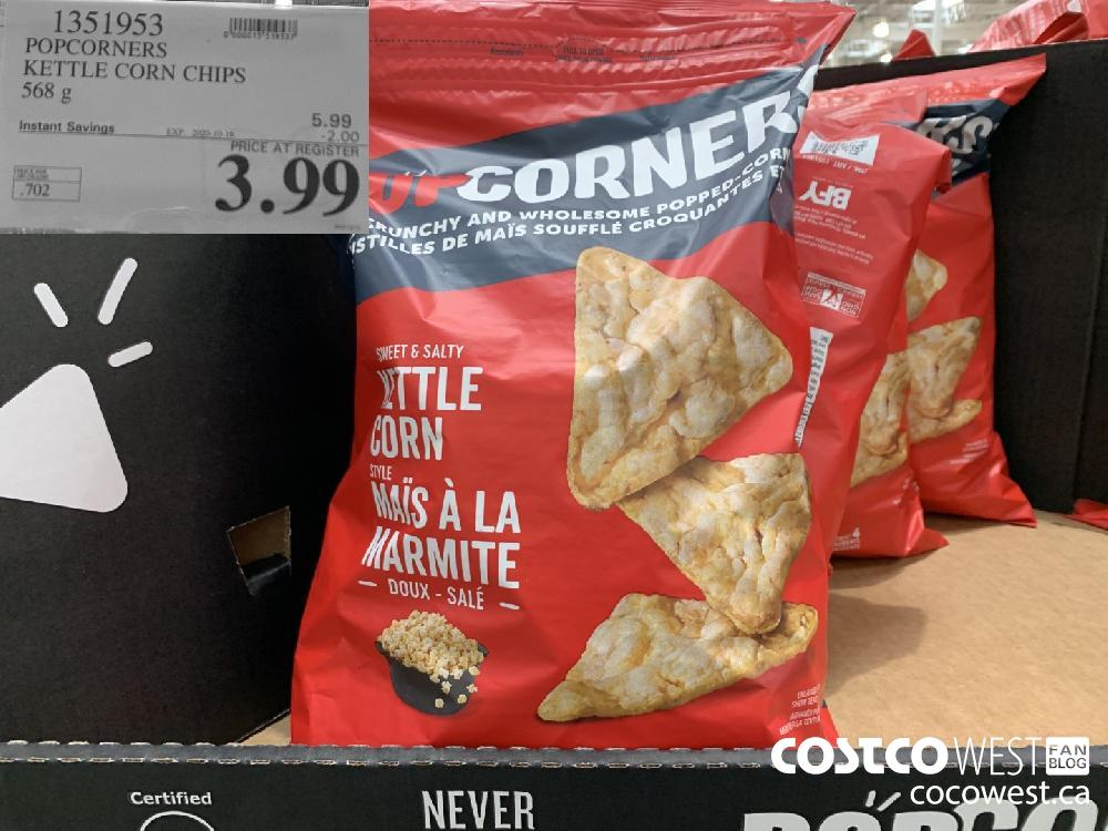 1351953 POPCORNERS KETTLE CORN CHIPS 568 g EXP. 2020-10-16 3.99