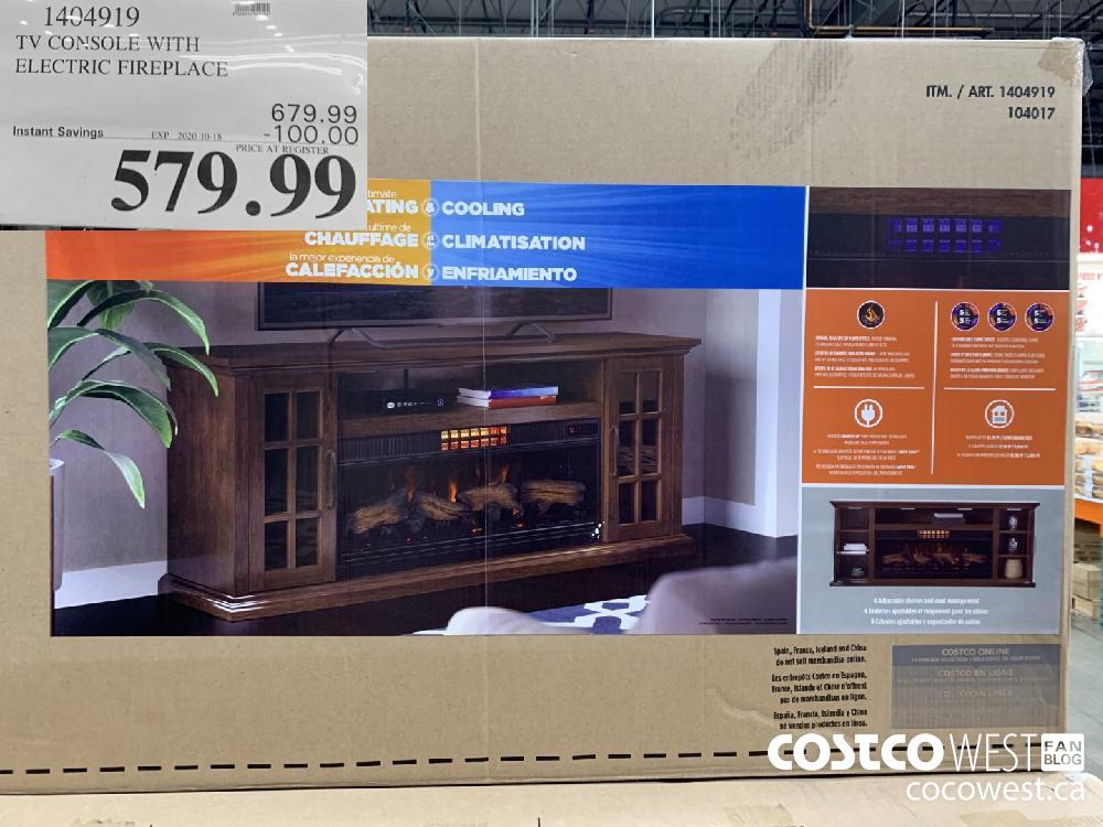 1404919 TV CONSOLE WITH ELECTRIC FIREPLACE EXP. 2020-10-18 579.99