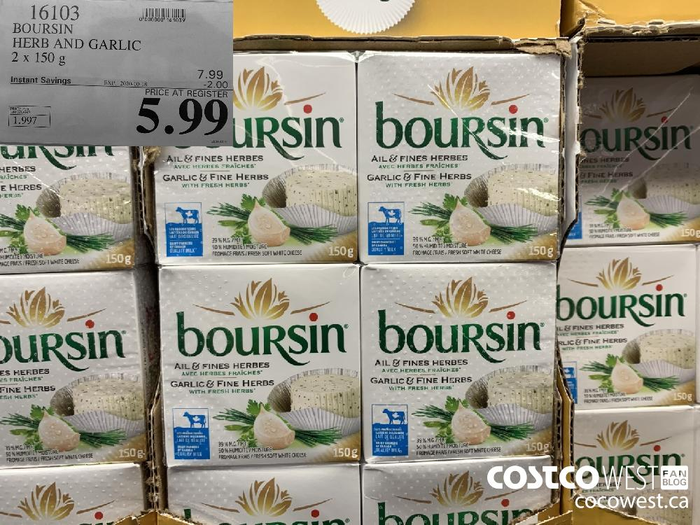 16103 BOURSIN HERB AND GARLIC 2 x 150 g EXP. 2020-10-18 5.99