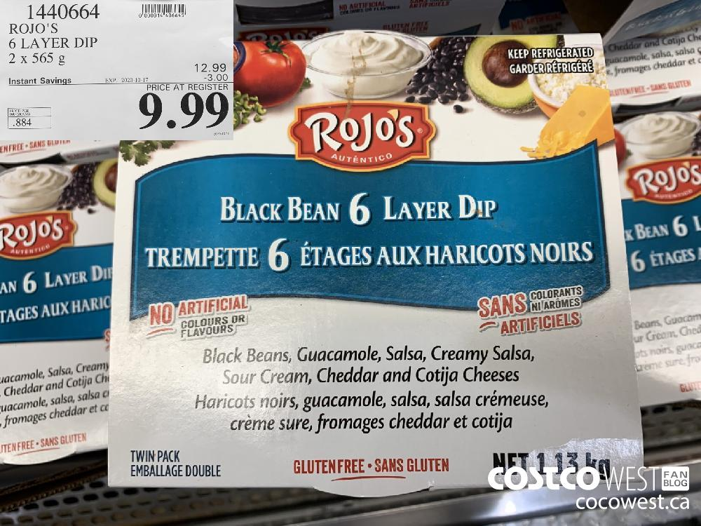 1440664 ROJO'S 6 LAYER DIP 2 x 565 g EXP. 2020-10-17 9.99