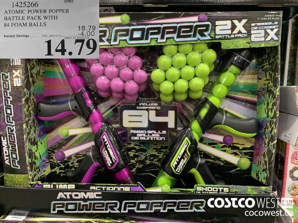 1425266 ATOMIC POWER POPPER BATTLE PACK WITH 84 FOAM BALLS EXP. 2020-10-19 14.79