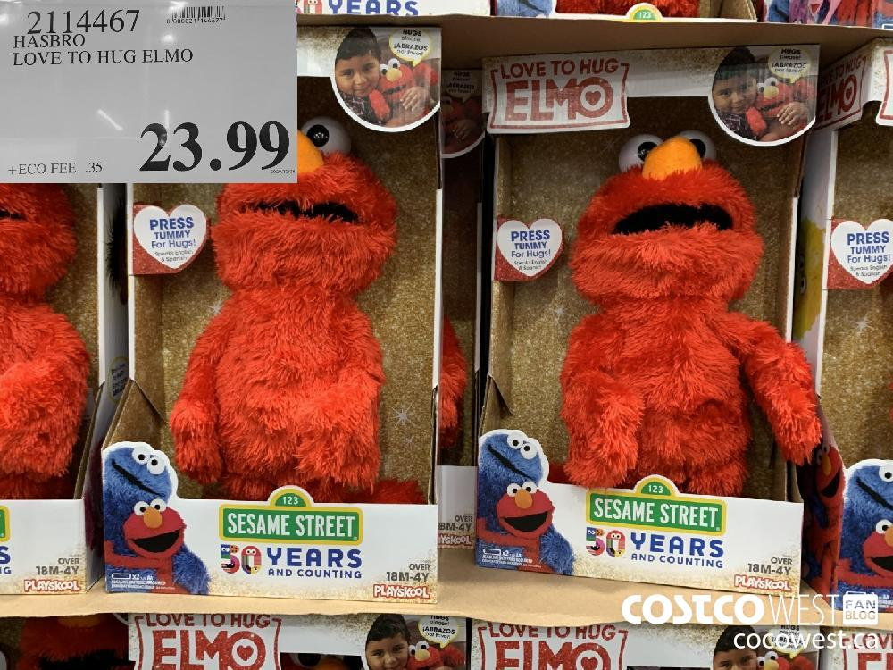 7114467 HASBRO LOVE TO HUG ELMO 23.99