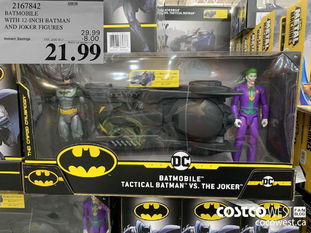 2167842 BATMOBILE WITH 12-INCH BATMAN AND JOKER FIGURES EXP. 2020-10-17 21.99