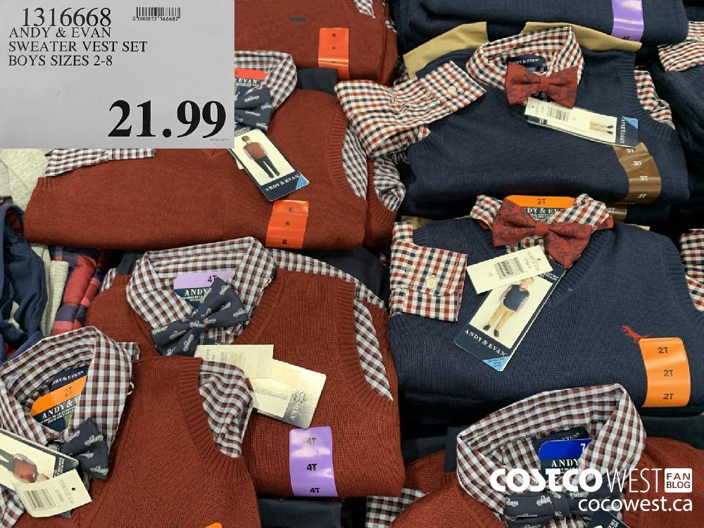 1316668 SWEATER VEST SET BOYS SIZES 2-8 21.99