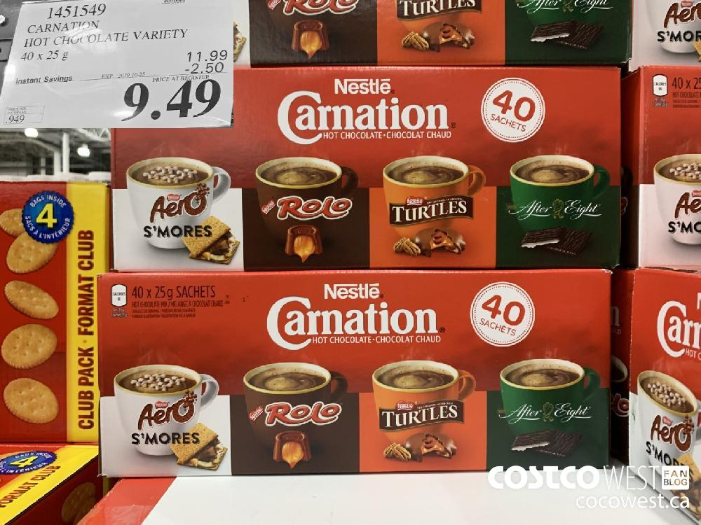 1451549 CARNATION HOT CHGCOLA TE VARIETY 40 x 25 g EXP. 2020-10-25 9.49
