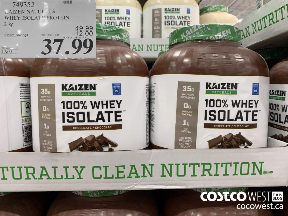 749352 KAIZEN NATURALS WHEY ISOLATE PROTEIN 2 kg EXP. 2020-10-25 37.99