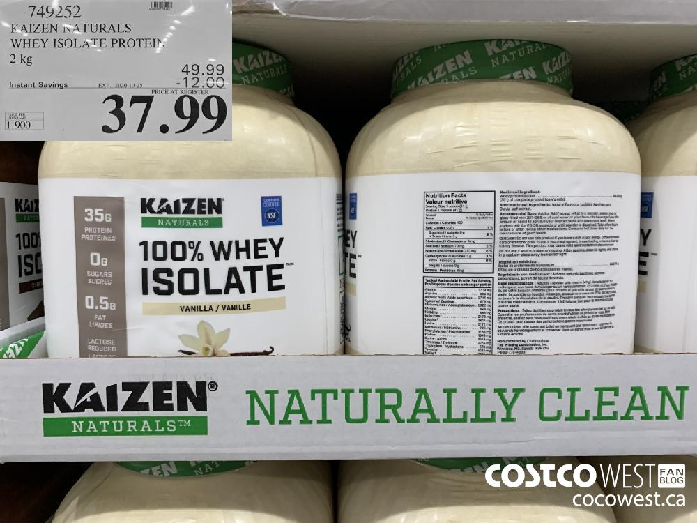 749252 KAIZEN NATURALS WHEY ISOLATE PROTEIN 2 kg EXP. 2020-10-25 37.99