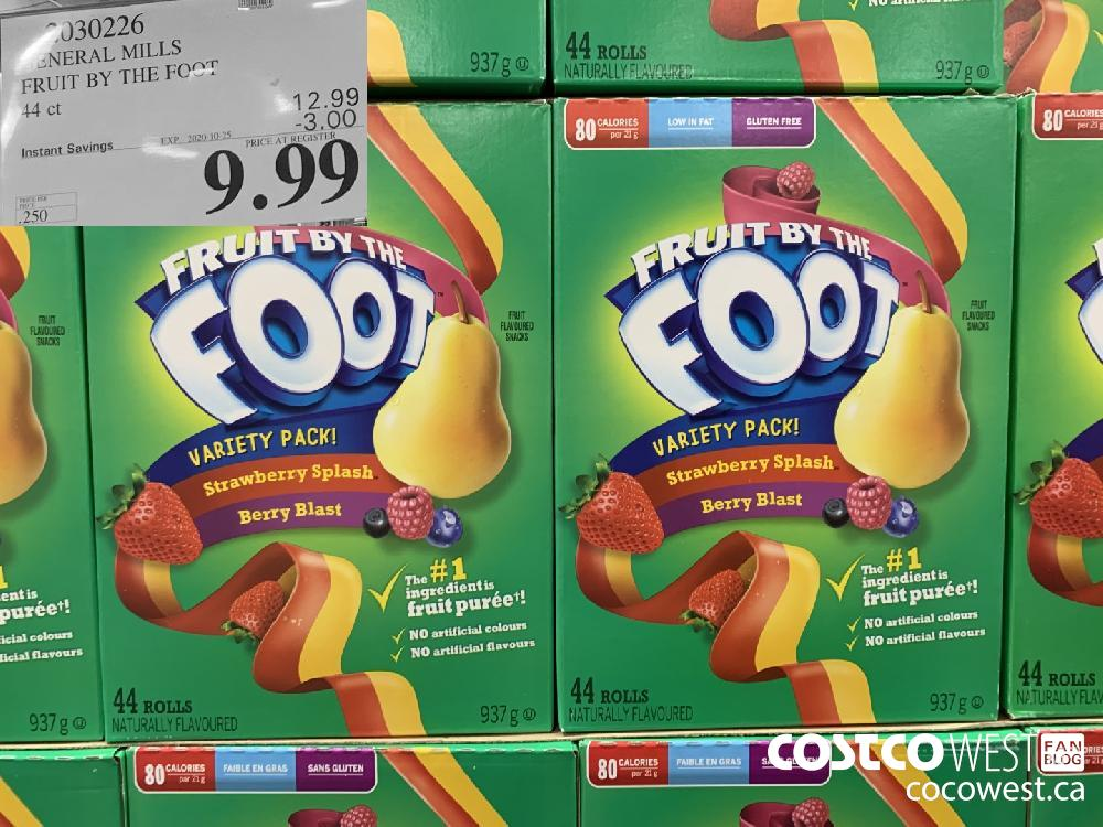 2030226 GENERAL MILLS FRUIT BY THE FOOT 44 ct EXP. 2020-10-25 9.99
