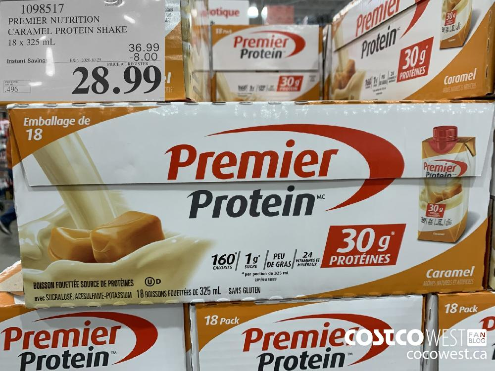 1098517 PREMIER NUTRITION CARAMEL PROTEIN SHAKE 18 x 325 mL EXP. 2020-10-25 28.99