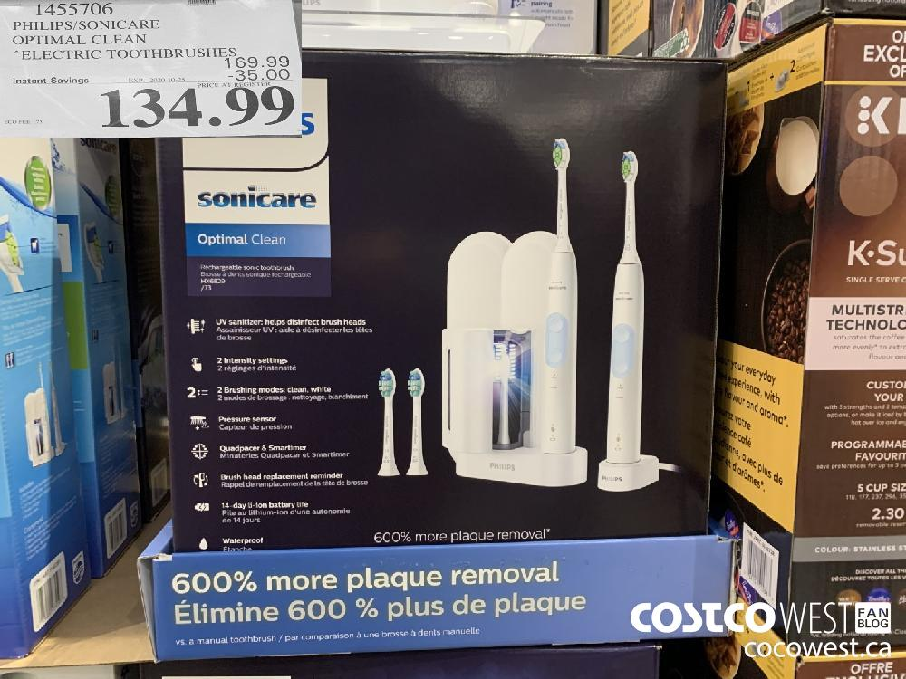 1455706 PHILIPS/SONICARE OPTIMAL CLEAN ELECTRIC TOOTHBRUSHES EXP. 2020-10-25 134.99
