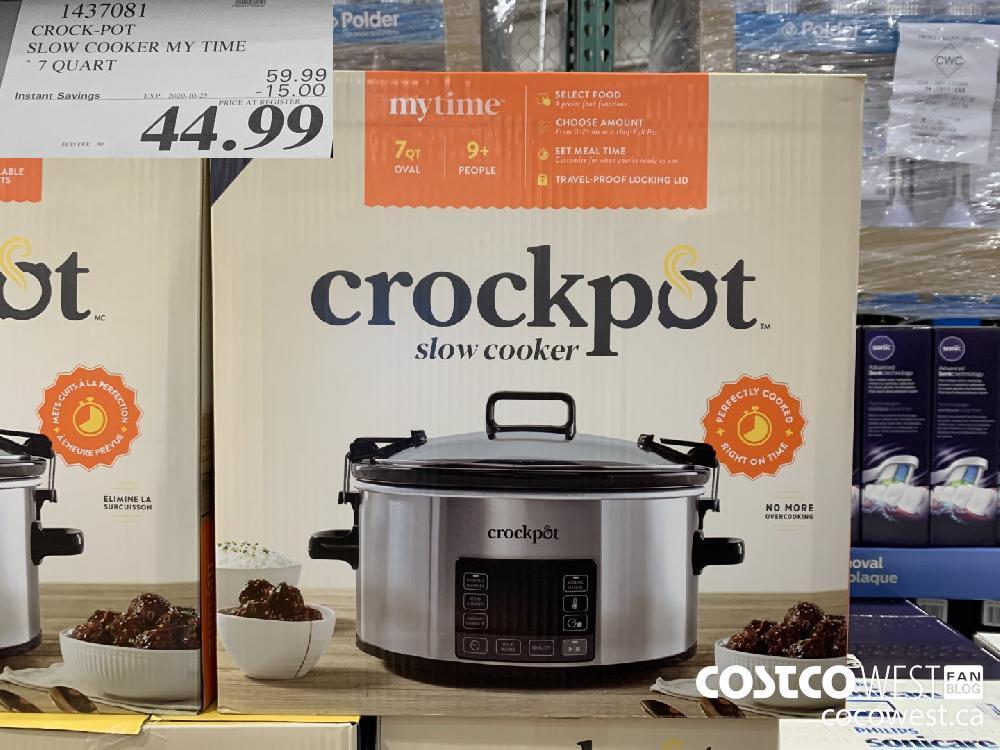 1437081 CROCK-POT SLOW COOKER MY TIME * 7 QUART EXP. 2020-10-25 44.99