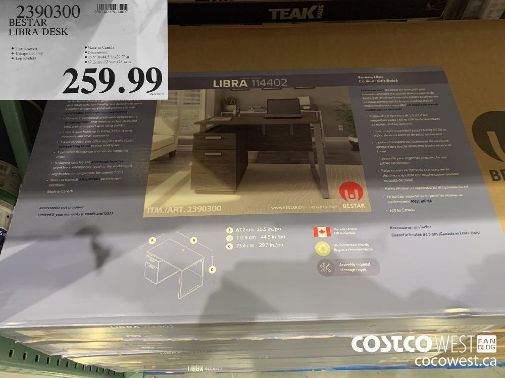 2390300 BESTAR LIBRA DESK 259.99