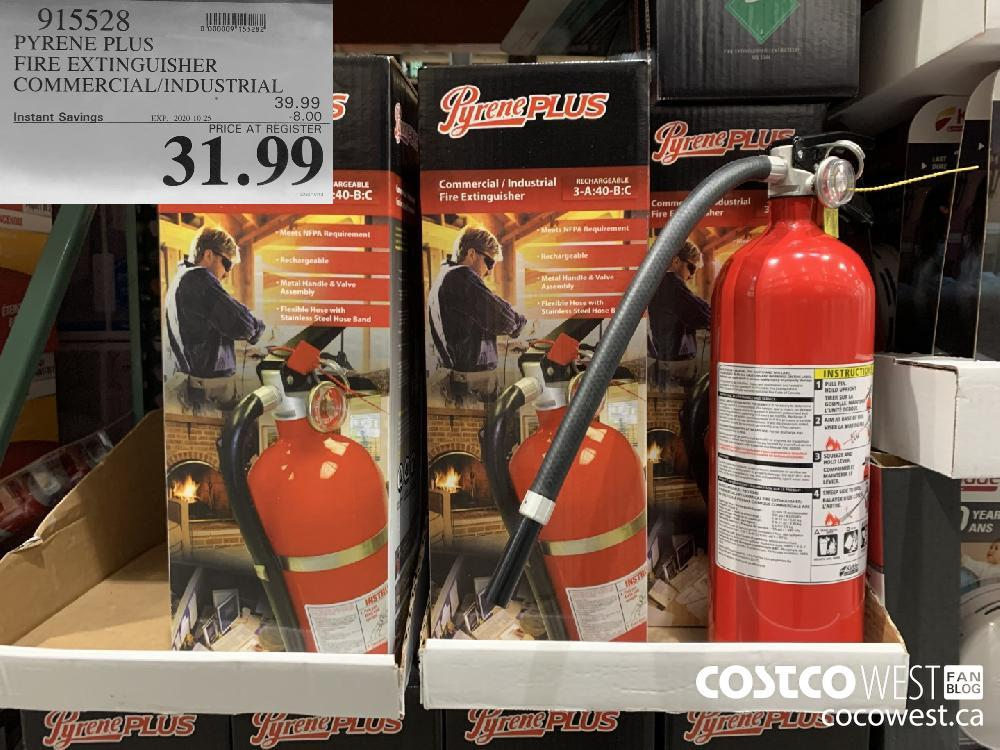915528 PYRENE PLUS FIRE EXTINGUISHER COMMERCIAL/INDUSTRIAL EXP. 2020-10-25 31.99
