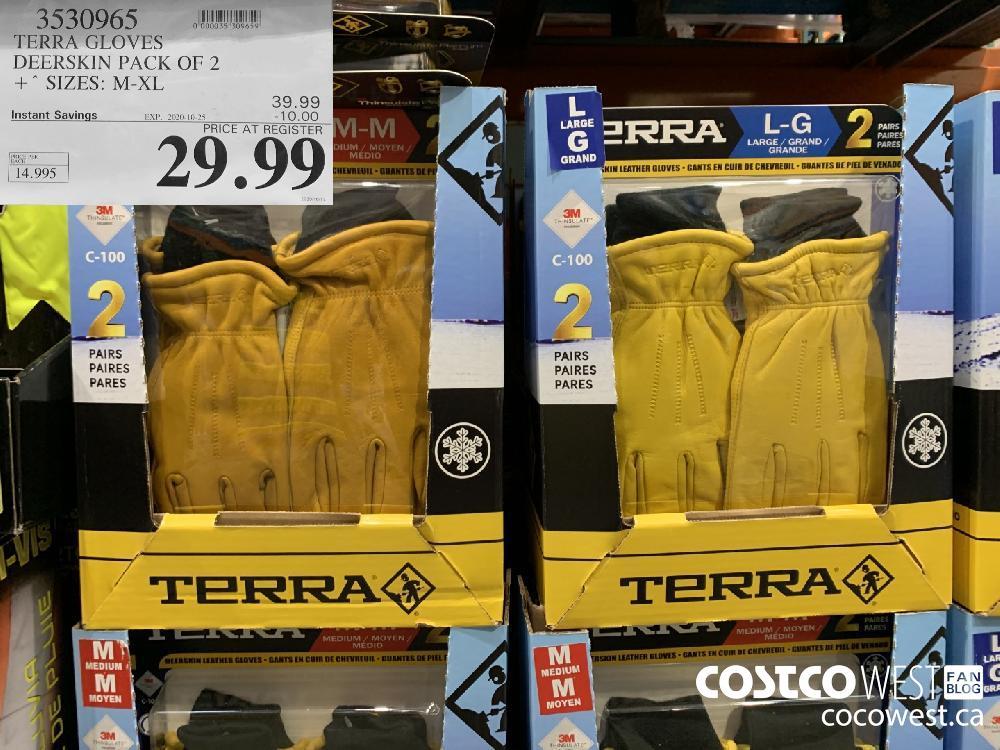 3530965 TERRA GLOVES DEERSKIN PACK OF 2 ° SIZES: M-XL 29.99