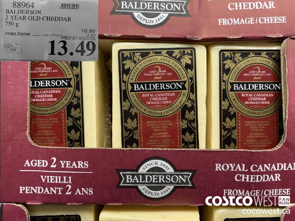 88964 BALDERSON 2 YEAR OLD CHEDDAR 750 g EXP. 2020-11-01 13.49
