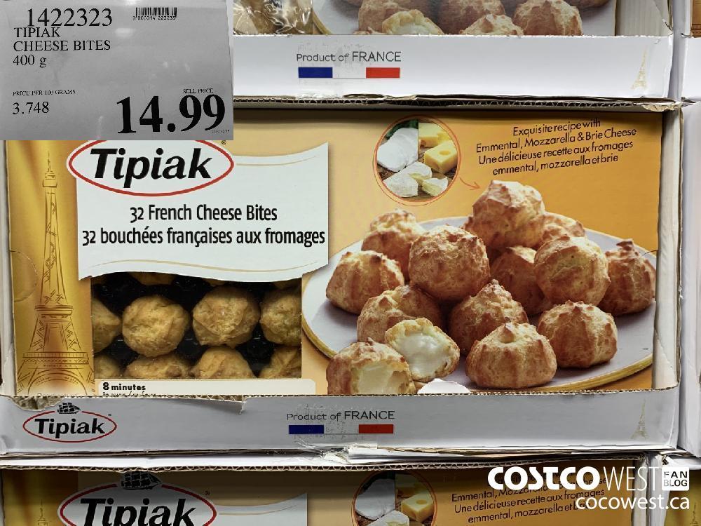 1422323 TIPIAK CHEESE BITES 400 g 14.99