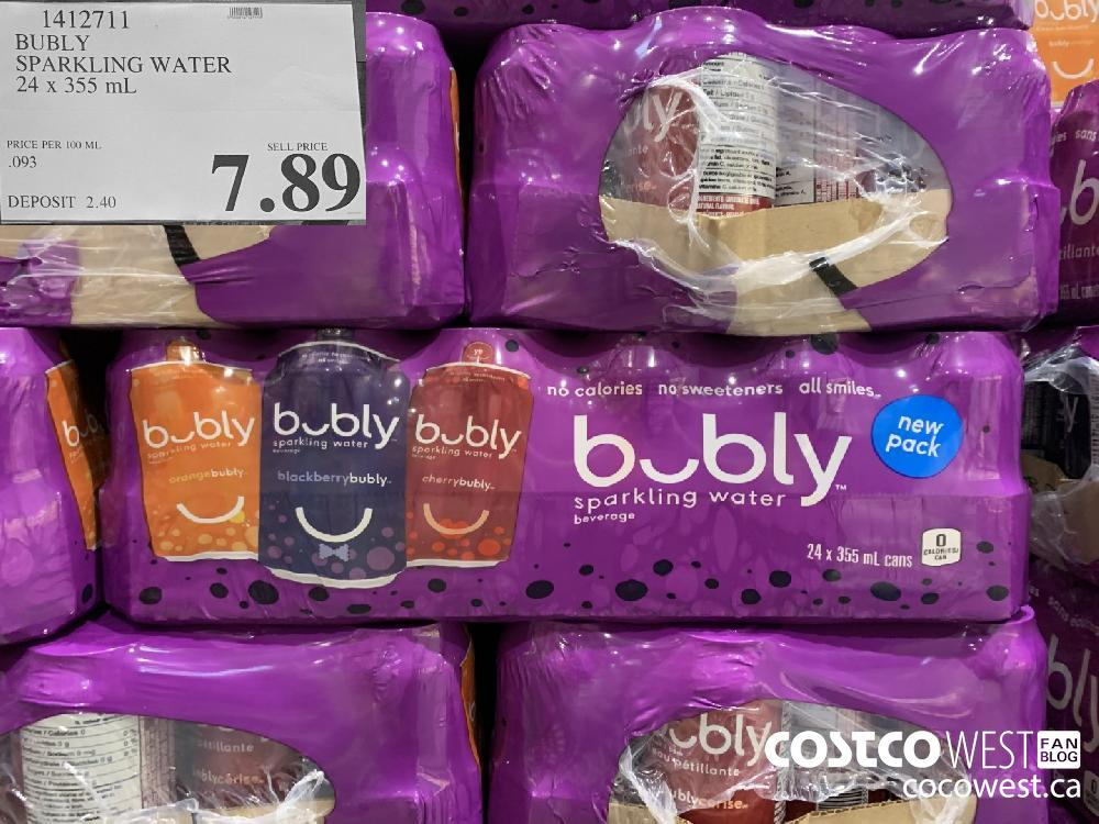1412711 BUBLY SPARKLING WATER 24 x 355 mL 7.89