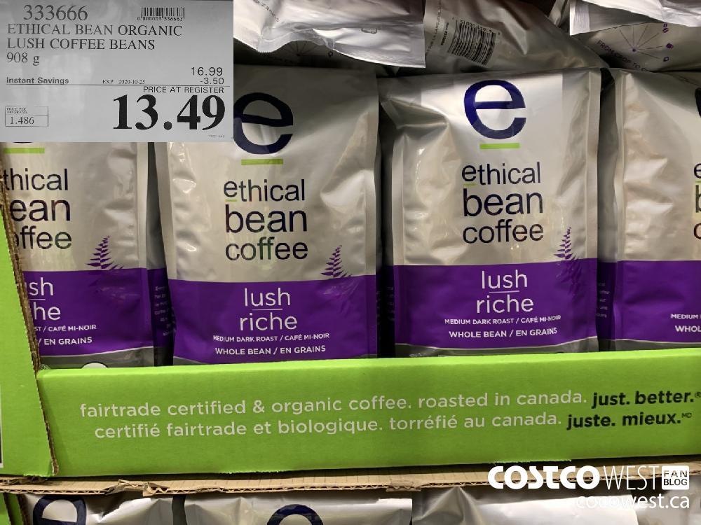 333666 ETHICAL BEAN ORGANIC LUSH COFFEE BEANS 908 g EXP. 2020-10-25 13.49