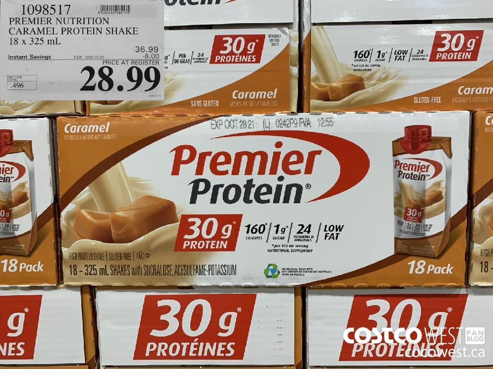 1098517 PREMIER NUTRITION CARAMEL PROTEIN SHAKE 18 x 325 mL EXP. 2020-10-25 28.99
