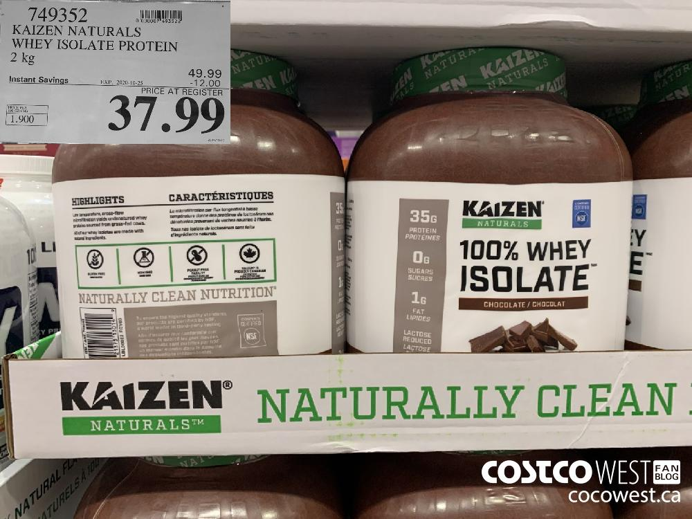 749352 KAIZEN NATURALS WHEY ISOLATE PROTEIN 2kg EXP. 2020-10-25 37.99