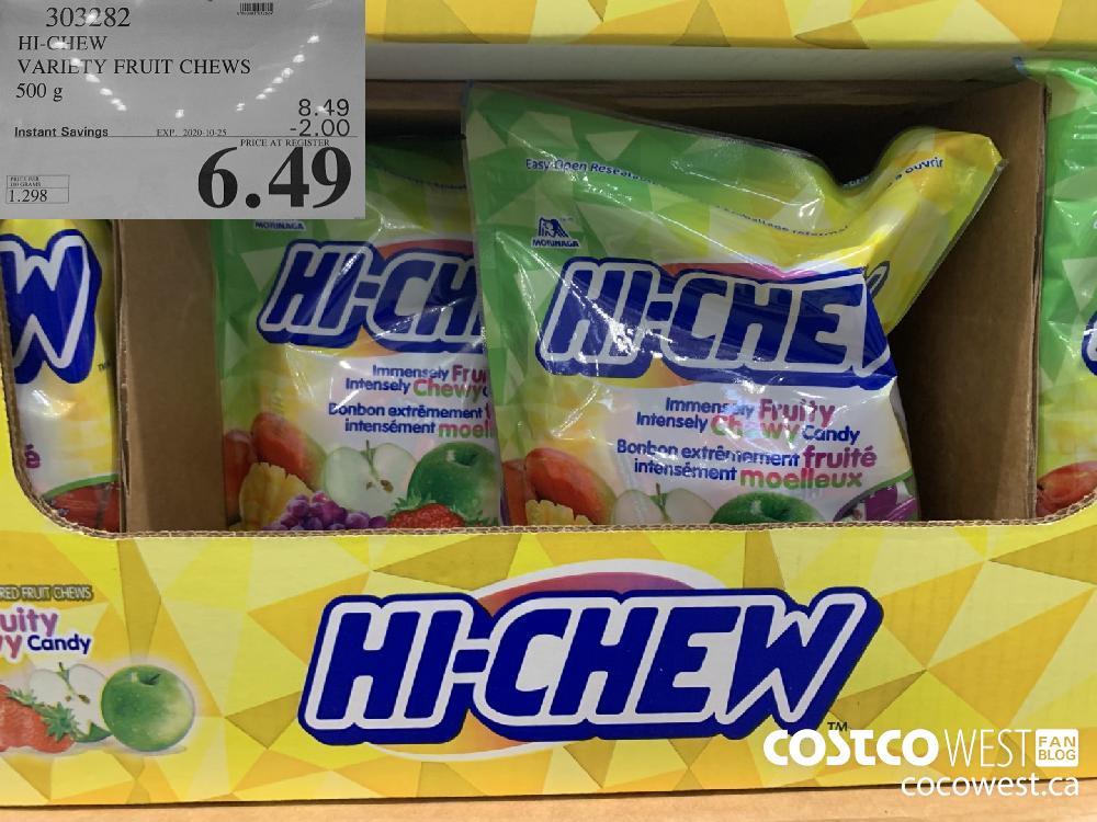 302782 HI-CHEW VARIETY FRUIT CHEWS 500 g EXP. 2020-10-25 6.49