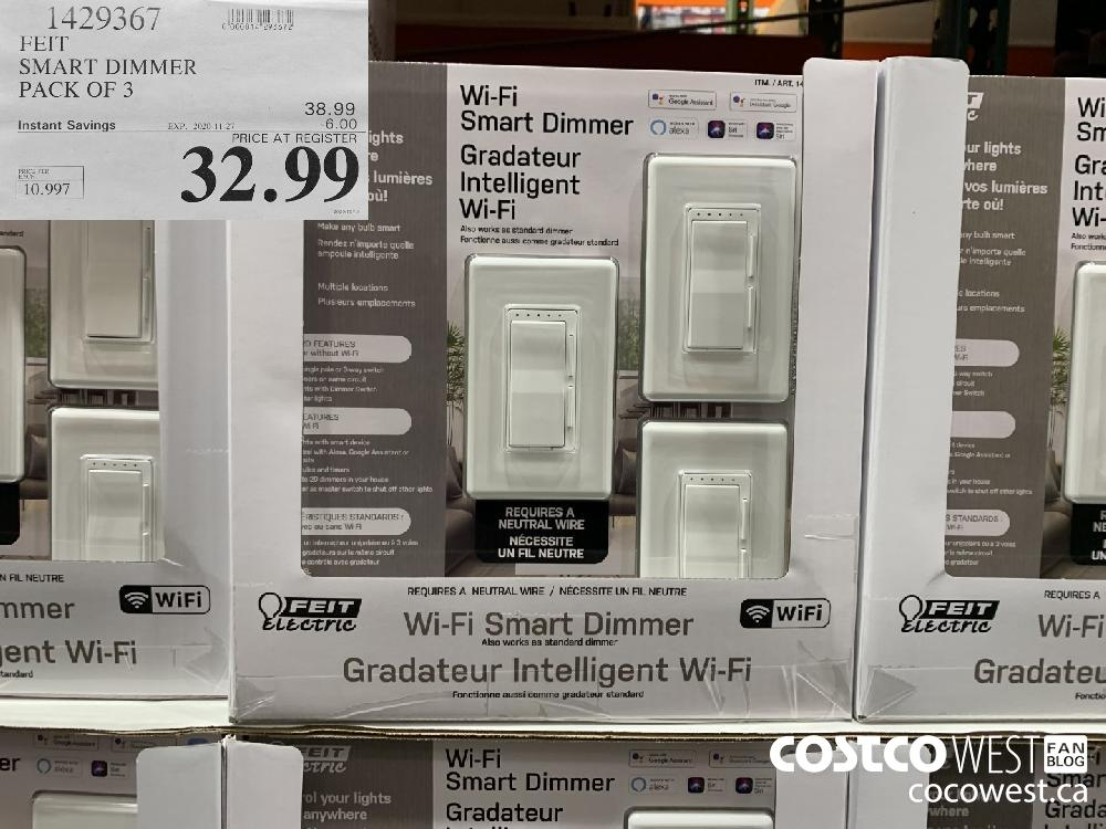 1429367 PERE SMART DIMMER PACK OF 3 EXP. 2020-11-27 $32.99
