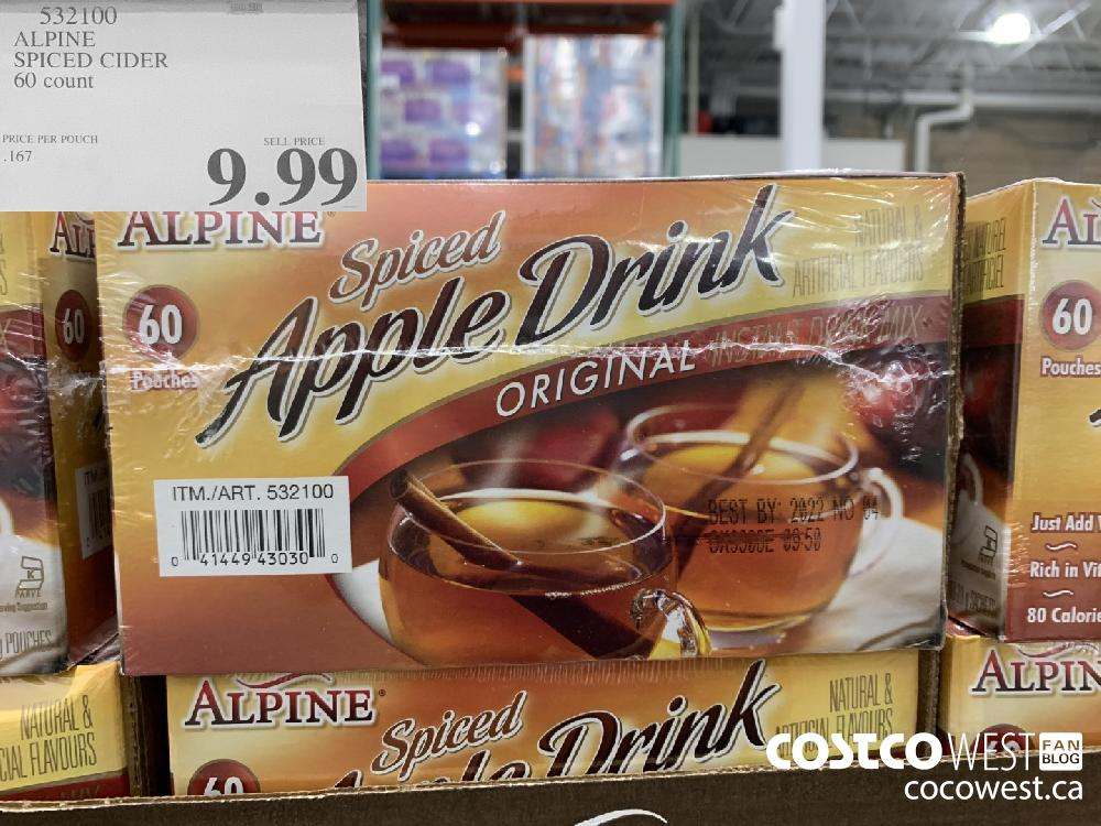532100 ALPINE SPICED CIDER 60 count $9.99