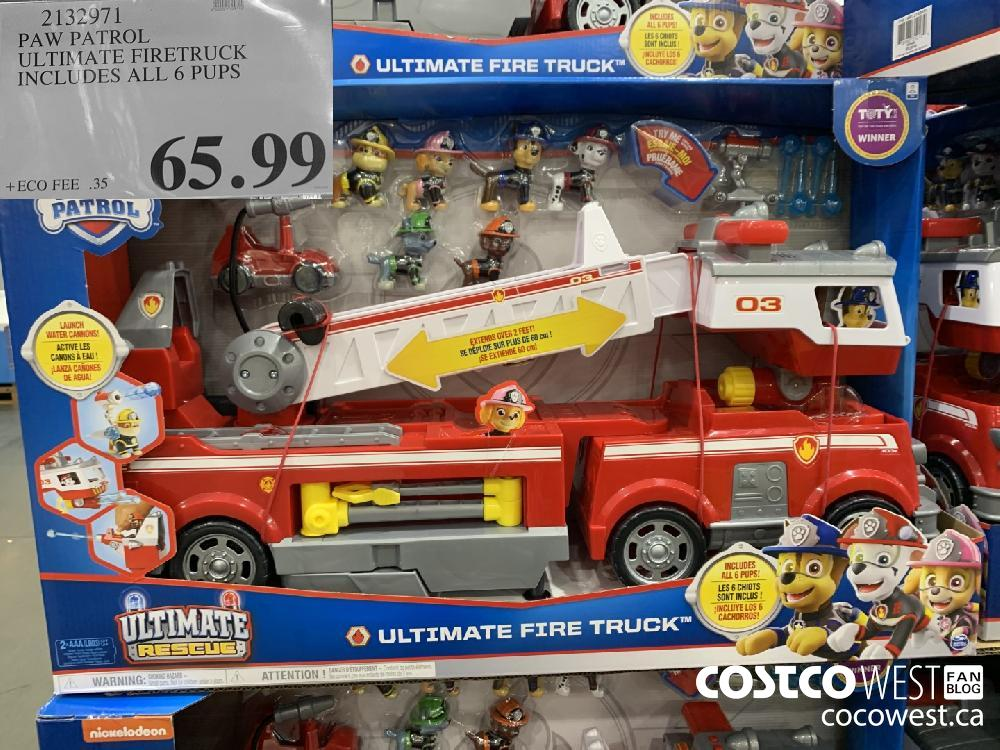 2132971 PAW PATROL ULTIMATE FIRETRUCK INCLUDES ALL 6 PUPS $65.99