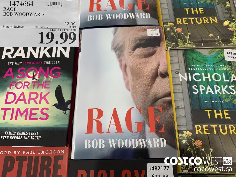 1474664 RAGE BOB WOODWARD EXP. 2020-11-03 $19.99