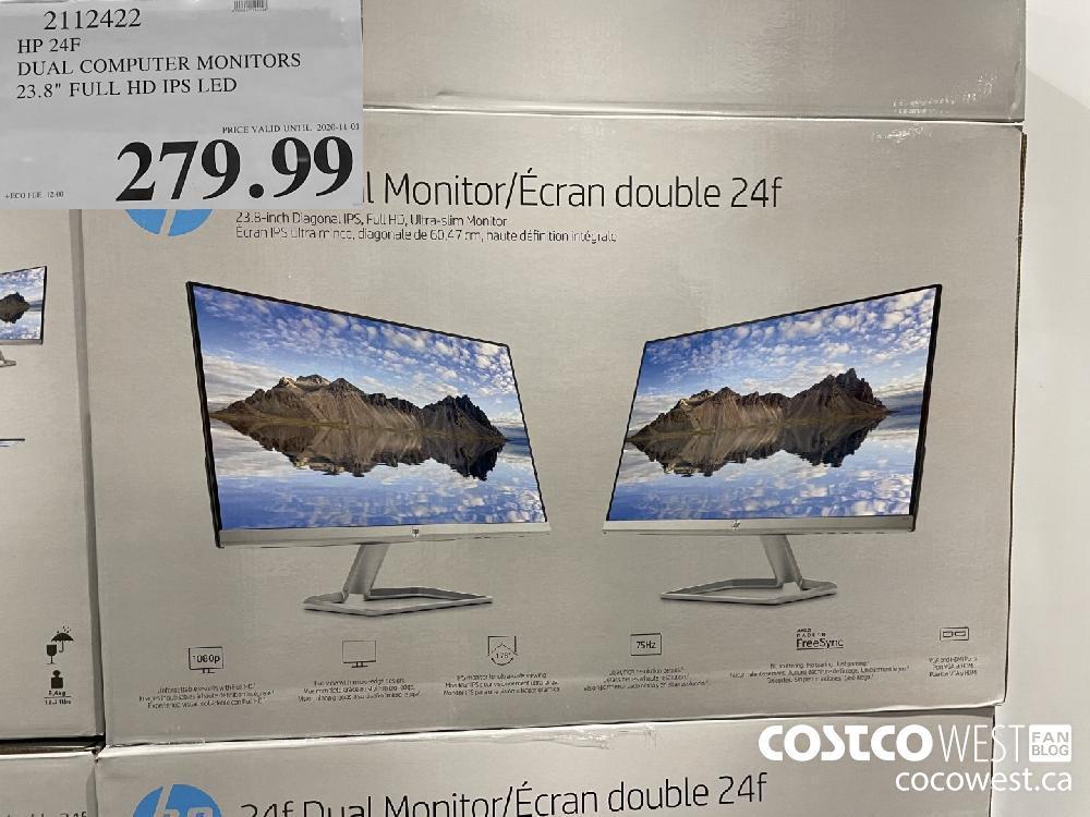 """2112422 HP 24F DUAL COMPUTER MONITORS 23.8"""" FULL HD IPS LED $279.99"""