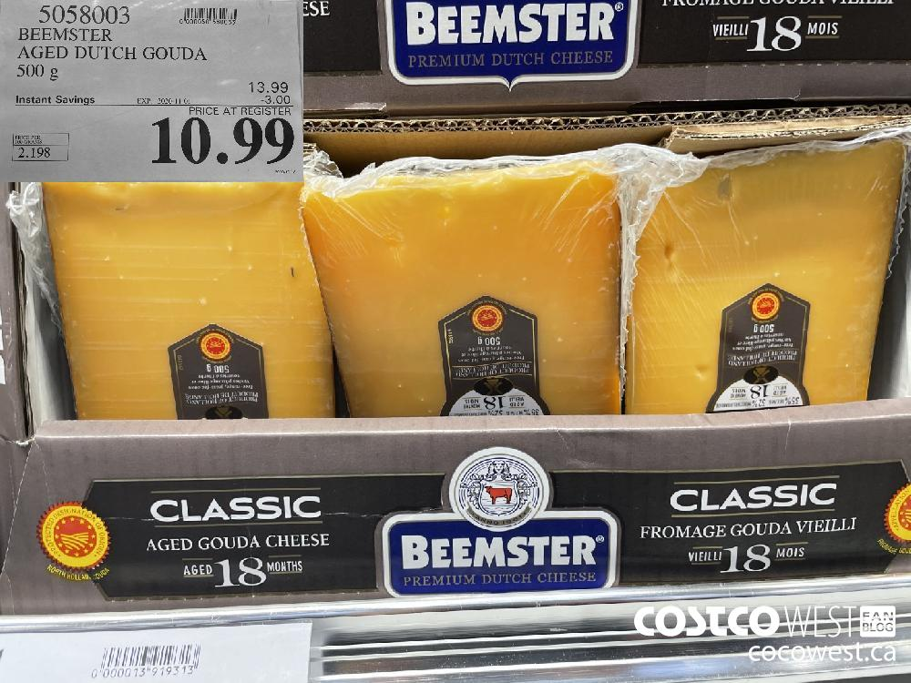 5058003 BEEMSTER AGED DUTCH GOUDA 500 g EXP. 2020-11-01 $10.99