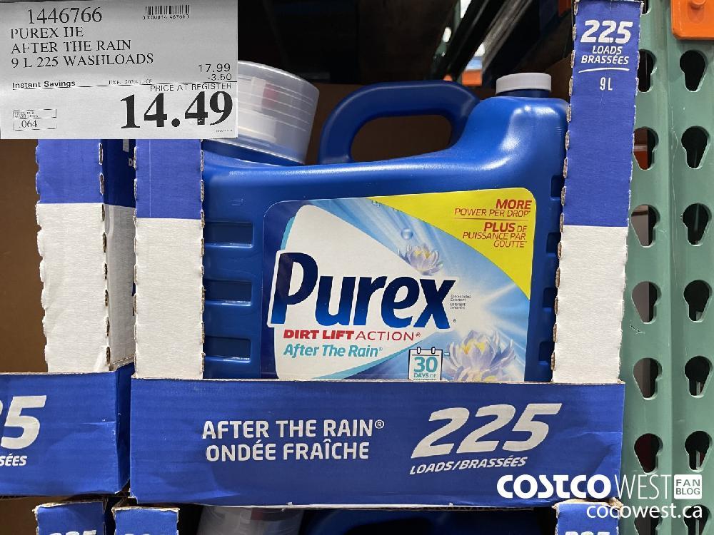 1446766 PUREX HE AFTER THE RAIN 9 L 225 WASHLOADS EXP. 2020-11-08 $14.49