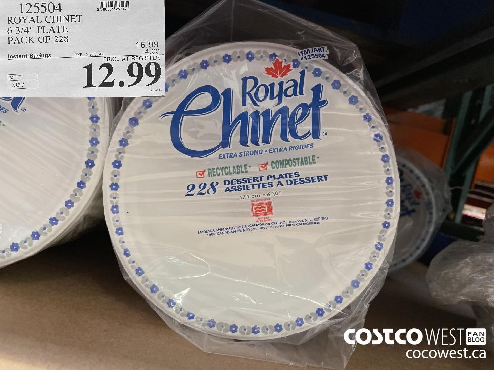 """125504 ROYAL CHINET 6 3/4"""" PLATE PACK OF 228 EXP. 2020-11-08 $12.99"""