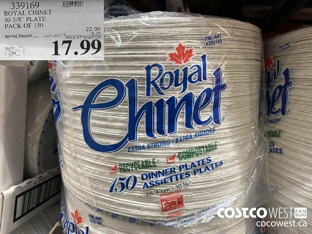 """339169 ROYAL CHINET 10 3.8"""" PLATE PACK OF 150 EXP. 2020-11-08 $17.99"""