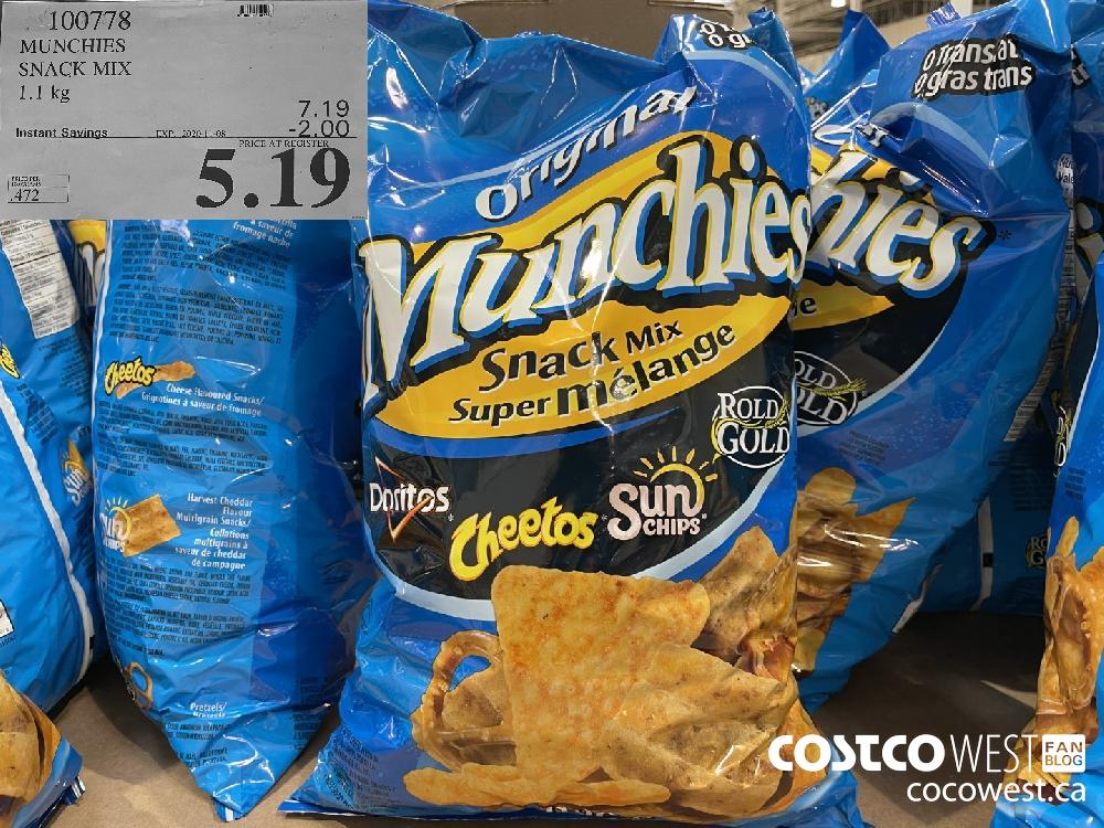100778 MUNCHIES SNACK MIX 1.1kg EXP. 2020-11-08 $5.19